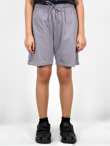 MELODI SOLID KNIT BERMUDA IN MID GREY