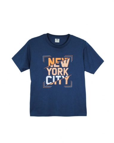 BOYS NEW YORK CITY GRAPHIC TEE IN DARK NAVY