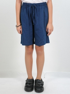 HANNA SOLID KNIT BERMUDA SHORTS IN DARK NAVY