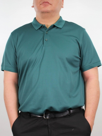 JOSEPH PLUS SIZE SHORT SLEEVE POLO IN DARK GREEN