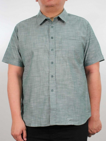 JOSEPH PLUS SIZE COLLARED SHIRT IN DARK GREEN