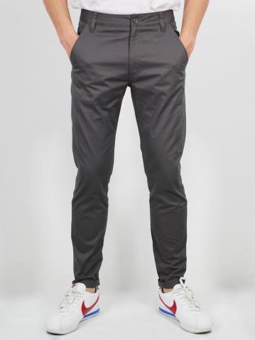 MIKE COTTON LONG PANTS IN DARK GREY