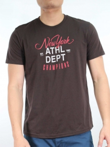 MEN NEW YORK ATHL DEPT GRAPHIC TEE IN CHESTNUT