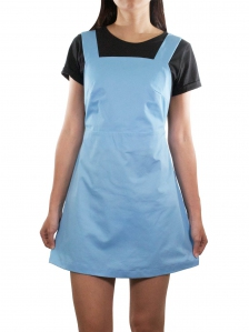 ELLA CASUAL PINAFORE DRESS IN LIGHT BLUE