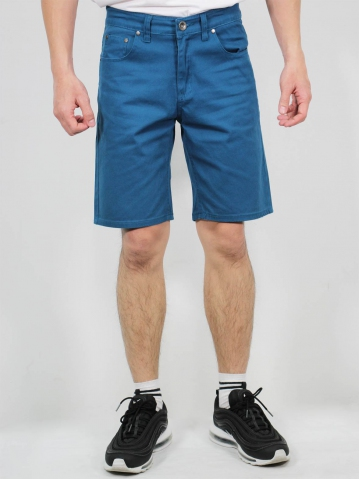 MIKE COTTON BERMUDA SHORTS IN PETROL