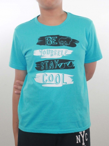 BOYS STAY COOL GRAPHIC TEE IN LIGHT BLUE