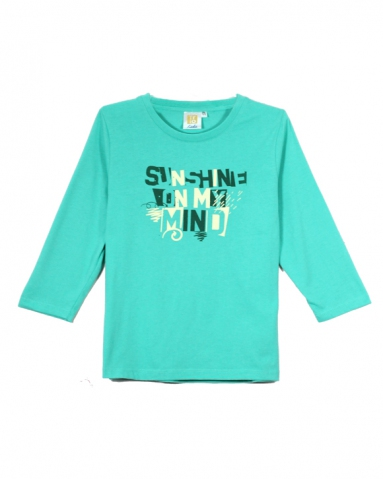 GIRLS SUNSHINE ON MY MIND GRAPHIC TEE IN DARK MINT