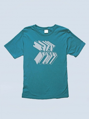 BOYS STAY TUNED GRAPHIC TEE IN DARK GREEN