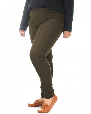 VIVIAN WOVEN LONG JEGGING IN DARK OLIVE