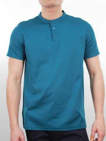 KENT SHORT SLEEVE POLO IN PETROL