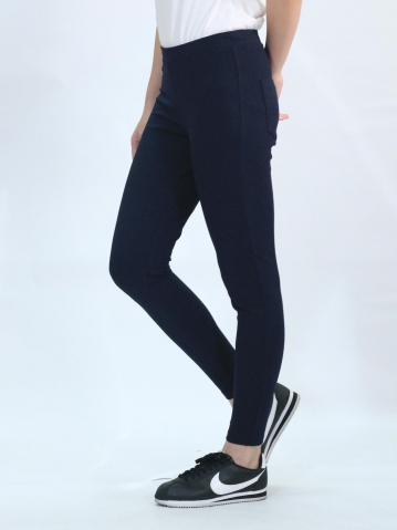 OLLIE KNITTED LONG JEGGING IN DARK NAVY