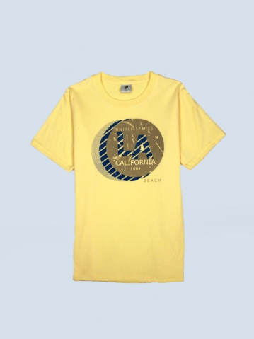 BOYS LA CALIFORNIA 1984 GRAPHIC TEE IN LIGHT YELLOW
