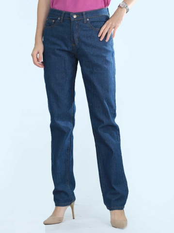 OLIVIA SLIM FIT JEANS IN MID BLUE