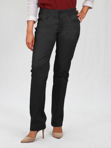 PAISLEY COTTON LONG PANTS IN BLACK
