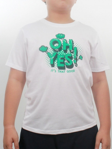 BOYS OH YES GRAPHIC TEE IN WHITE