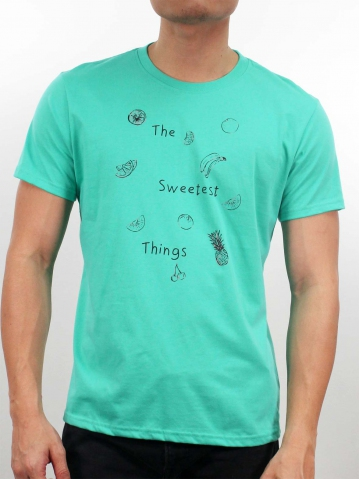 MEN THE SWEETEST THINGS GRAPHIC TEE IN DARK MINT