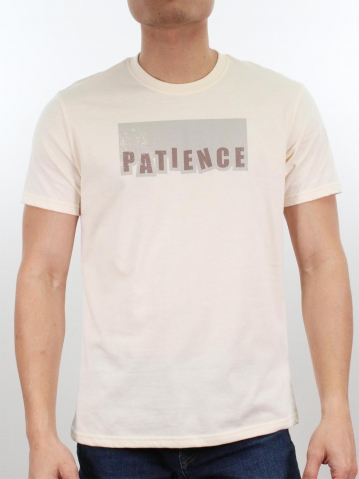 MEN PATIENCE GRAPHIC TEE IN CREAM