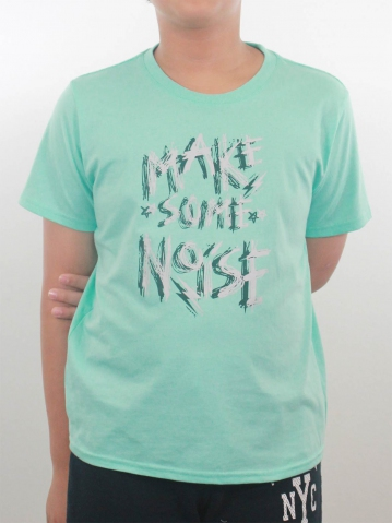 BOYS MAKE SOME NOISE GRAPHIC TEE IN MINT