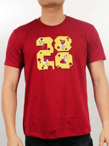 MEN MOUSE 2020 GRAPHIC TEE IN MAROON