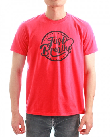 MEN JUST BREATHE GRAPHIC TEE IN ROSE