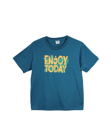 BOYS ENJOY TODAY GRAPHIC TEE IN PETROL