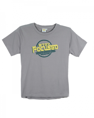 BOYS STAY FOCUSED GRAPHIC TEE IN MID GREY