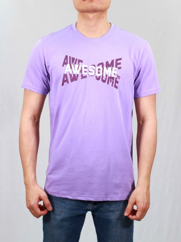 MEN AWESOME GRAPHIC TEE IN LILAC