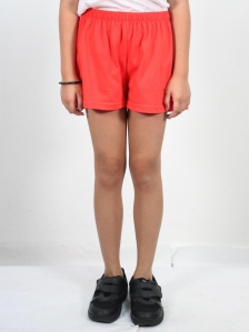 HANNA SOLID KNIT SHORTS IN DARK ORANGE