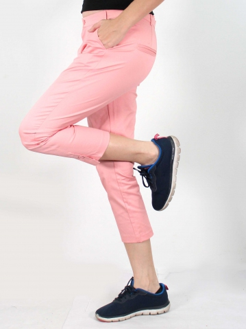 JANE COTTON CROP PANTS IN PINK