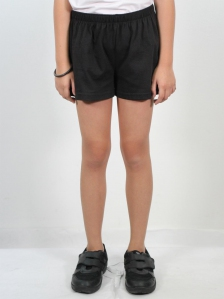 HANNA SOLID KNIT SHORTS IN BLACK
