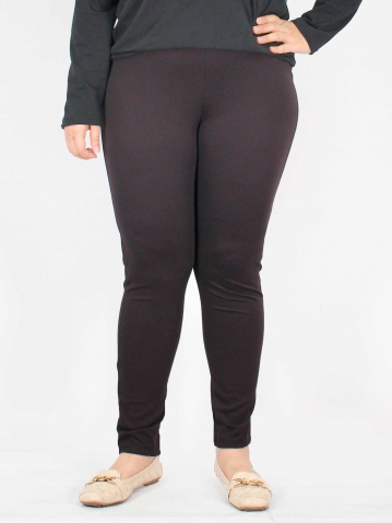 MERRY KNITTED LONG JEGGING IN CHESTNUT