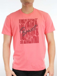 MEN BRAVEST GRAPHIC TEE IN CORAL
