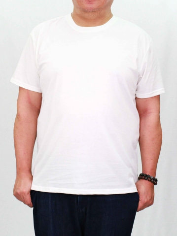 PAUL PLUS SIZE SHORT SLEEVE PLAIN TEE IN OFF WHITE
