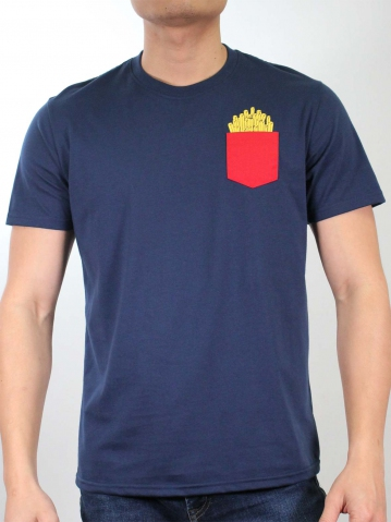 MEN FRENCH FRIES GRAPHIC TEE IN DARK NAVY