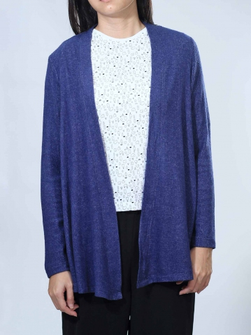 NEOL LONG SLEEVE CARDIGAN IN DARK NAVY