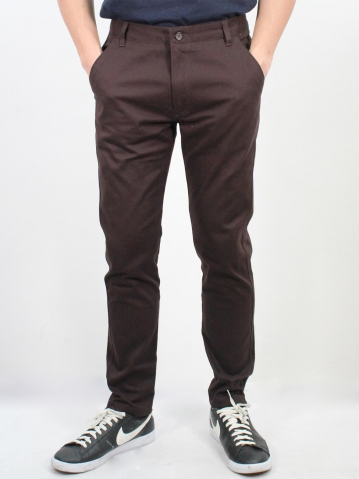 JACK COTTON LONG PANTS IN CHESTNUT