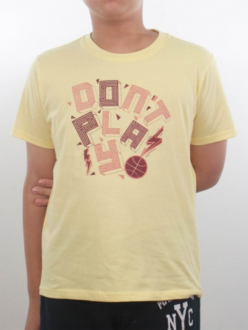 BOYS DONT PLAY GRAPHIC TEE IN MID YELLOW