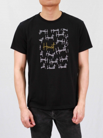 MEN HONEST GRAPHIC TEE IN BLACK