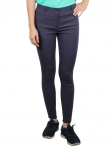 GLORIA SOLID LONG JEGGING IN DARK GREY