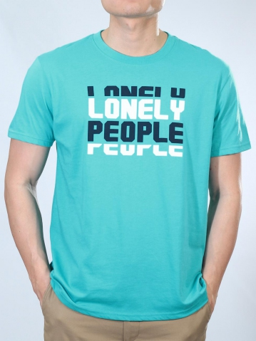 MEN LONELY PEOPLE GRAPHIC TEE IN JADE