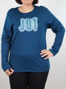 WOMEN PLUS SIZE JOY GRAPHIC TEE IN PETROL