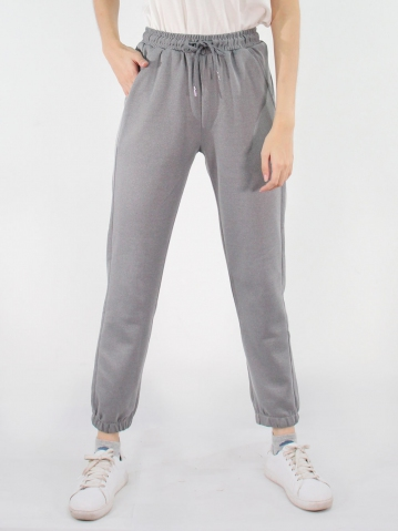 JANE KNITTED JOGGER PANTS IN DARK GREY