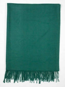 FIONA SOLID COLOUR SCARF IN DARK GREEN