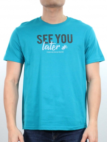 MEN SEE YOU LATER GRAPHIC TEE IN DARK TEAL