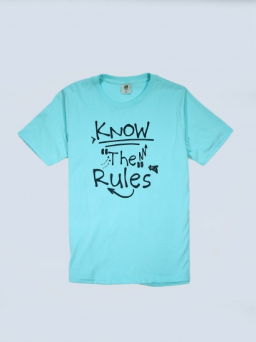 BOYS KNOW THE RULES GRAPHIC TEE IN MINT