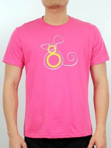 MEN MOUSE SKETCHES GRAPHIC TEE IN MID PINK