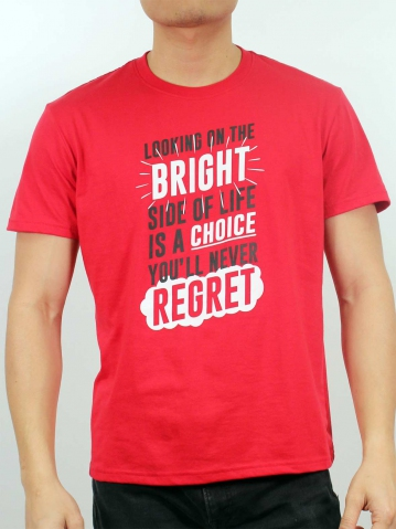 MEN BRIGHT CHOICE GRAPHIC TEE IN RED