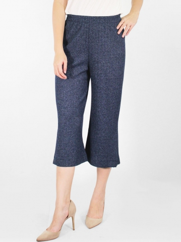 JANE FLARED CROP PANTS IN DARK NAVY