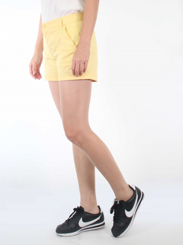 KATE COTTON SHORT PANTS IN LIGHT YELLOW