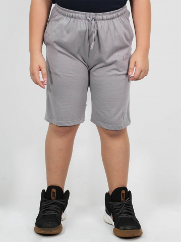 MAXX SOLID KNIT BERMUDA IN MID GREY